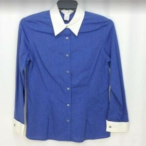 Casual Corner Button Down Shirt Womens Size 8 NWT